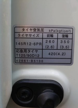 タイヤの空気圧●-●=3